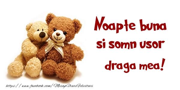 Felicitari frumoase de noapte buna pentru Sotie | Noapte buna si Somn usor draga mea!