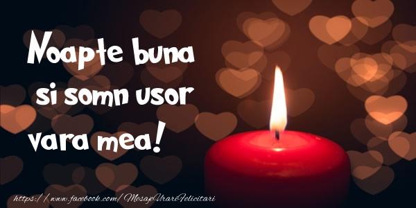 Felicitari frumoase de noapte buna pentru Verisoara | Noapte buna si Somn usor vara mea!