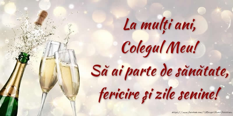 Felicitari frumoase de zi de nastere pentru Coleg | La mulți ani, colegul meu! Să ai parte de sănătate, fericire și zile senine!