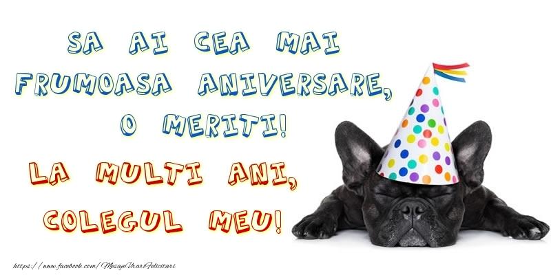 Felicitari frumoase de zi de nastere pentru Coleg | Sa ai cea mai frumoasa aniversare, o meriti!La multi ani, colegul meu!