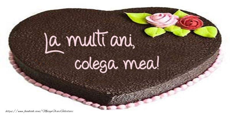 Felicitari frumoase de zi de nastere pentru Colega | La multi ani, colega mea! Tort in forma de inima