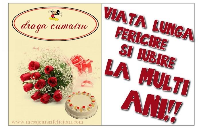 Felicitari frumoase de zi de nastere pentru Cumatru | viata lunga, fericire si iubire. La multi ani, draga cumatru