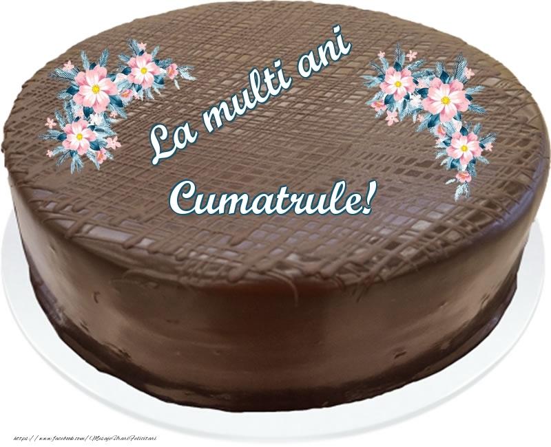 Felicitari frumoase de zi de nastere pentru Cumatru | La multi ani cumatrule! - Tort de ciocolata