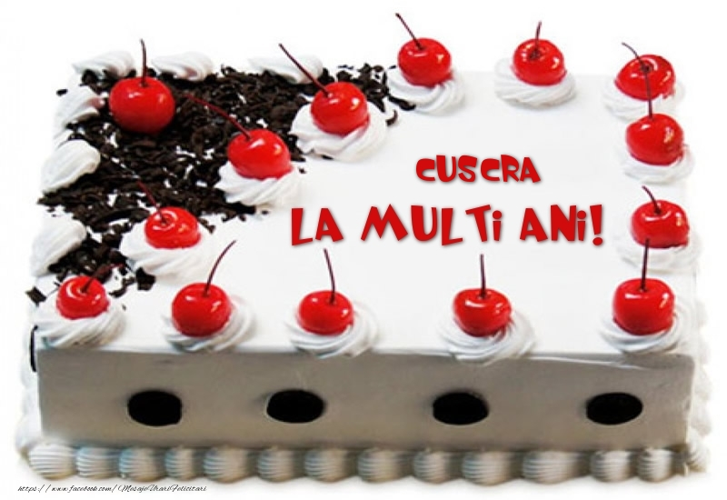 Felicitari frumoase de zi de nastere pentru Cuscra   Cuscra La multi ani! - Tort cu capsuni