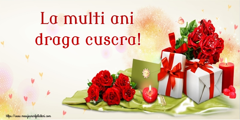 Felicitari frumoase de zi de nastere pentru Cuscra | La multi ani draga cuscra!