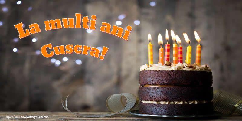 Felicitari frumoase de zi de nastere pentru Cuscra | La multi ani cuscra!
