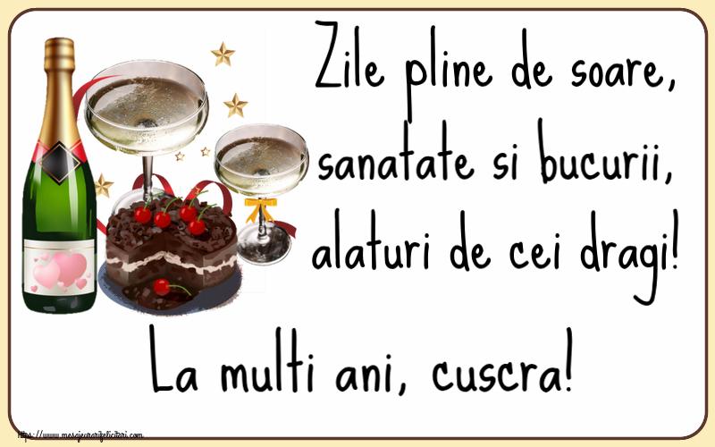 Felicitari frumoase de zi de nastere pentru Cuscra | Zile pline de soare, sanatate si bucurii, alaturi de cei dragi! La multi ani, cuscra!