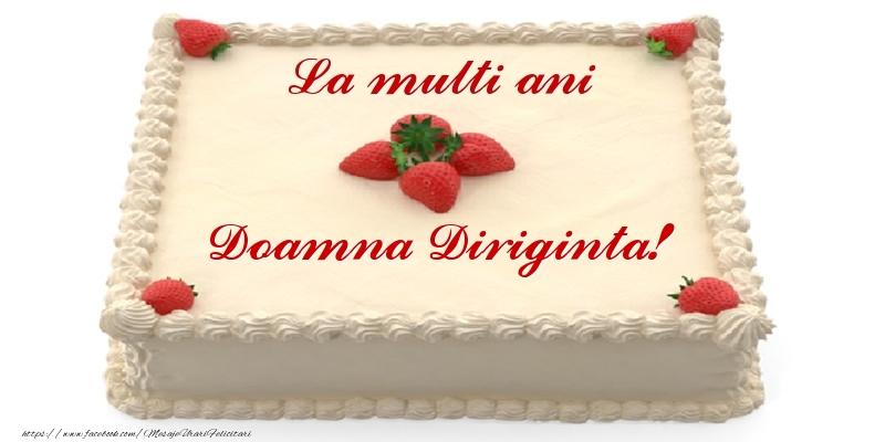 Felicitari frumoase de zi de nastere pentru Diriginta | Tort cu capsuni - La multi ani doamna diriginta!
