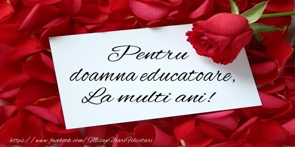 Felicitari frumoase de zi de nastere pentru Educatoare | Pentru doamna educatoare, La multi ani!