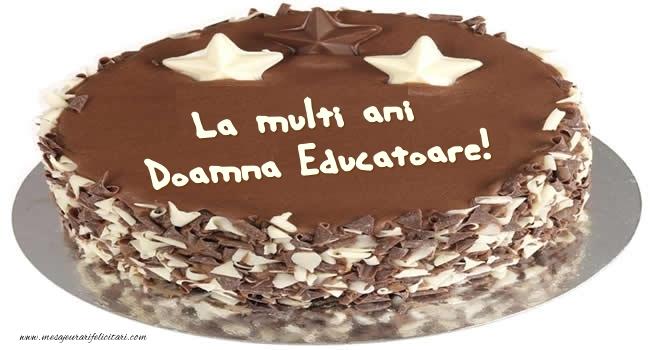 Felicitari frumoase de zi de nastere pentru Educatoare | Tort La multi ani doamna educatoare!