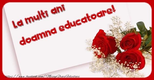 Felicitari frumoase de zi de nastere pentru Educatoare | La multi ani doamna educatoare