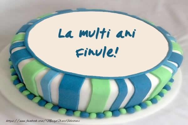 Felicitari frumoase de zi de nastere pentru Fin | Tort La multi ani finule!