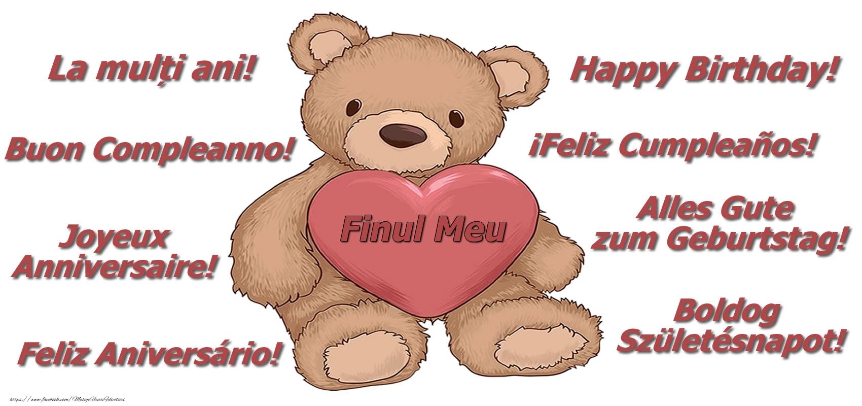 Felicitari frumoase de zi de nastere pentru Fin | La multi ani finul meu! - Ursulet
