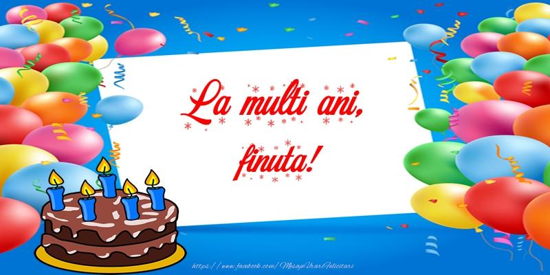 Felicitari frumoase de zi de nastere pentru Fina | La multi ani, finuta!
