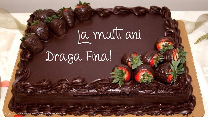 Felicitari frumoase de zi de nastere pentru Fina | La multi ani, draga fina! - Tort