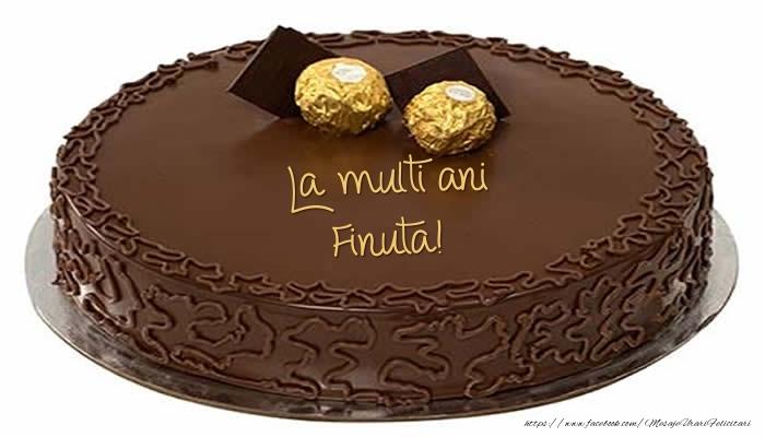 Felicitari frumoase de zi de nastere pentru Fina | Tort - La multi ani finuta!