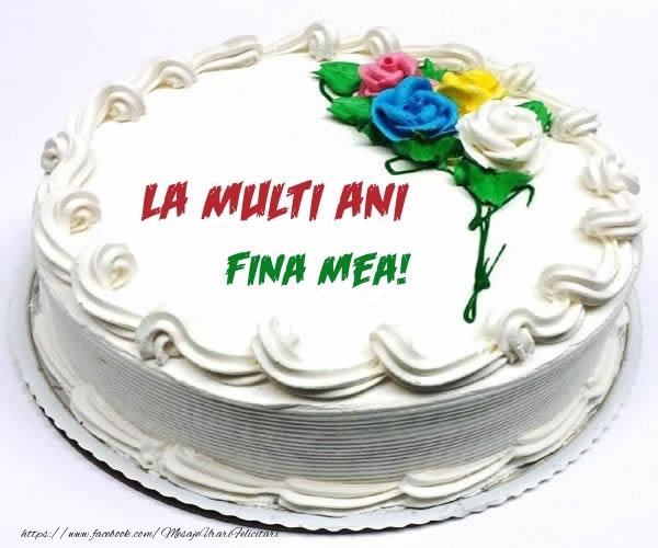 Felicitari frumoase de zi de nastere pentru Fina   La multi ani fina mea!