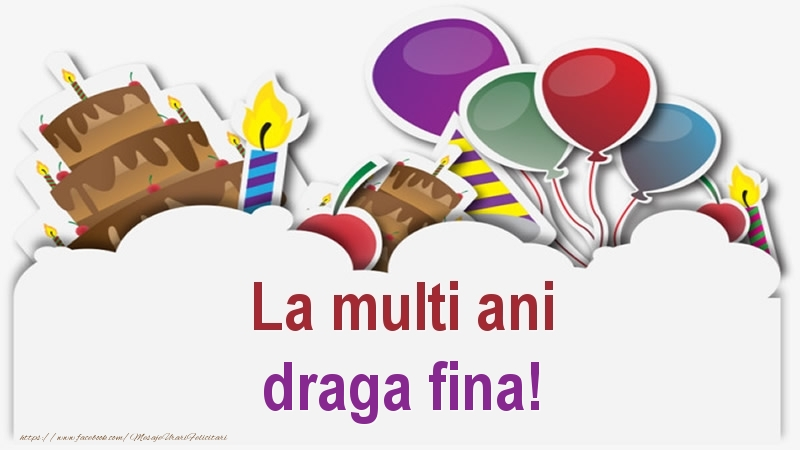Felicitari frumoase de zi de nastere pentru Fina | La multi ani draga fina!