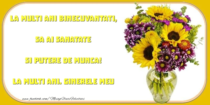 Felicitari frumoase de zi de nastere pentru Ginere | La multi ani binecuvantati, sa ai sanatate si putere de munca! ginerele meu