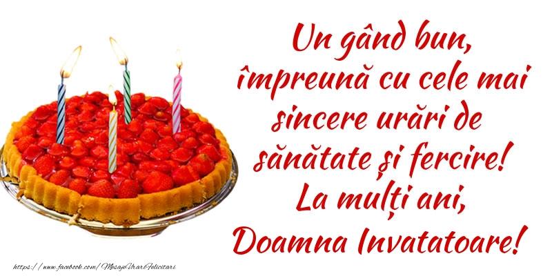 Felicitari frumoase de zi de nastere pentru Invatatoare | Un gând bun, împreună cu cele mai sincere urări de sănătate și fercire! La mulți ani, doamna invatatoare!