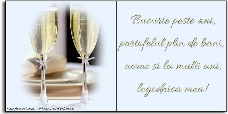 Felicitari frumoase de zi de nastere pentru Logodnica | Bucurie peste ani, portofelul plin de bani, noroc si la multi ani, logodnica mea