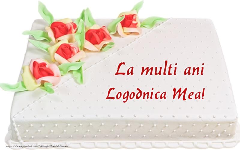 Felicitari frumoase de zi de nastere pentru Logodnica   La multi ani logodnica mea! - Tort