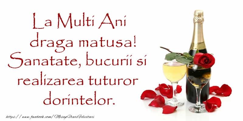 Felicitari frumoase de zi de nastere pentru Matusa | La Multi Ani draga matusa! Sanatate, bucurii si realizarea tuturor dorintelor.