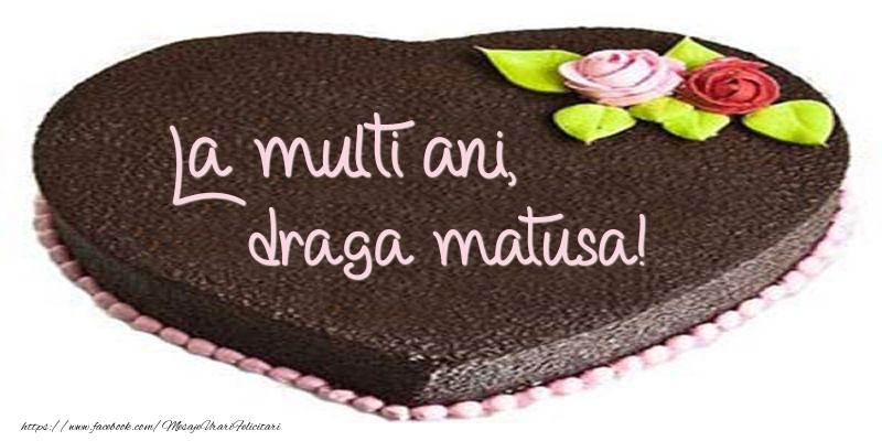 Felicitari frumoase de zi de nastere pentru Matusa | La multi ani, draga matusa! Tort in forma de inima