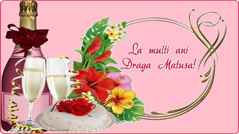 Felicitari frumoase de zi de nastere pentru Matusa   La multi ani draga matusa!