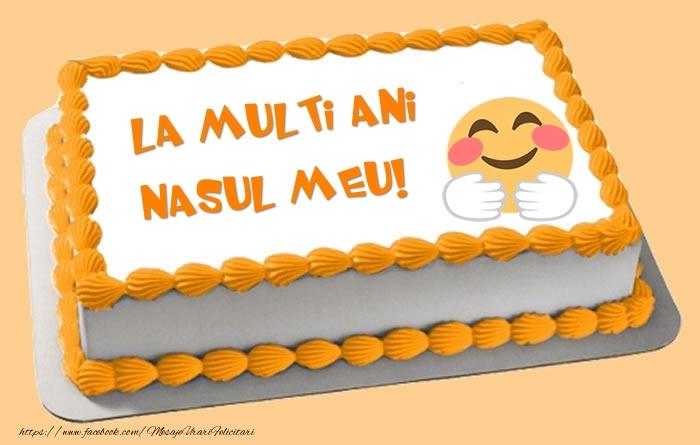 Felicitari frumoase de zi de nastere pentru Nas | Tort La multi ani nasul meu!