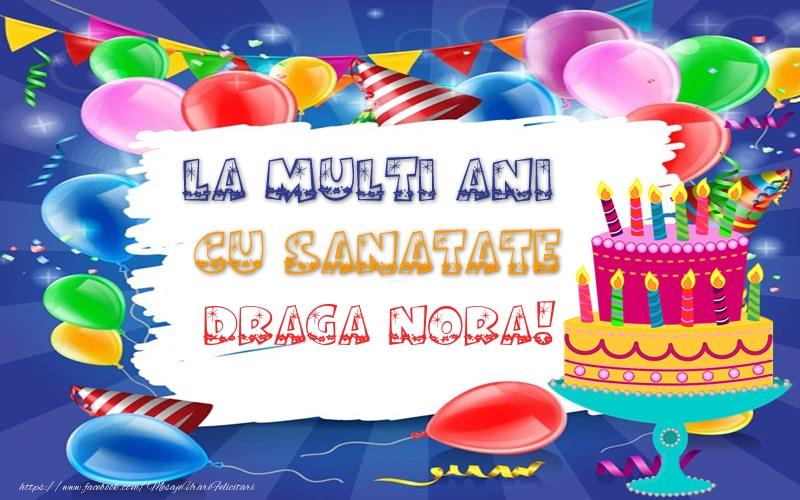 Felicitari frumoase de zi de nastere pentru Nora | LA MULTI ANI CU SANATATE draga nora!