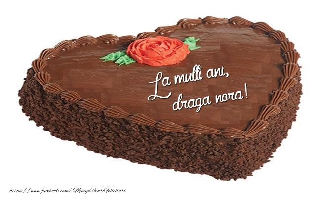 Felicitari frumoase de zi de nastere pentru Nora | Tort La multi ani, draga nora!