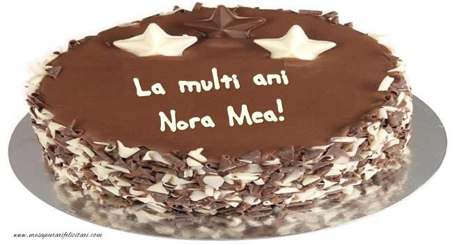 Felicitari frumoase de zi de nastere pentru Nora | Tort La multi ani nora mea!