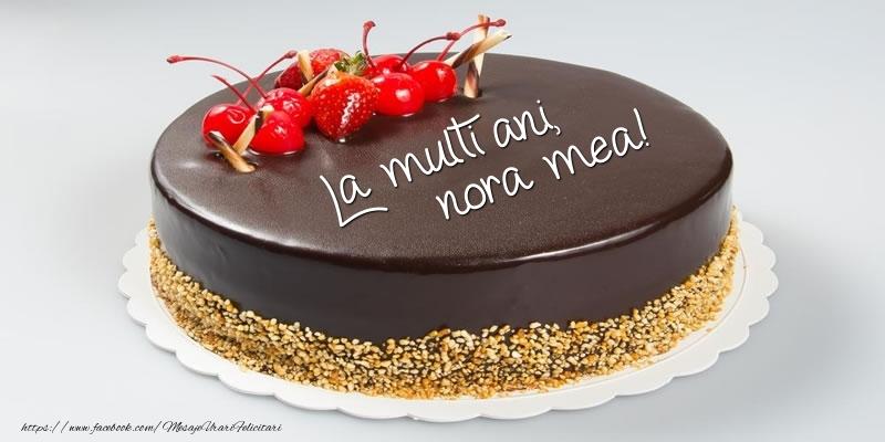 Felicitari frumoase de zi de nastere pentru Nora | Tort - La multi ani, nora mea!