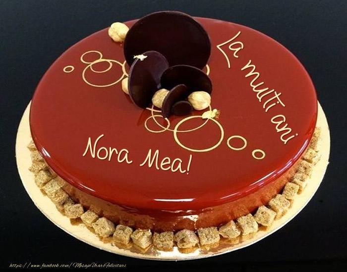 Felicitari frumoase de zi de nastere pentru Nora | Tort - La multi ani nora mea!