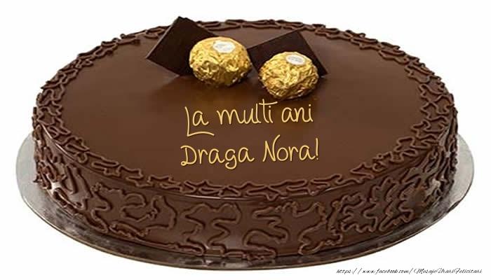 Felicitari frumoase de zi de nastere pentru Nora | Tort - La multi ani draga nora!