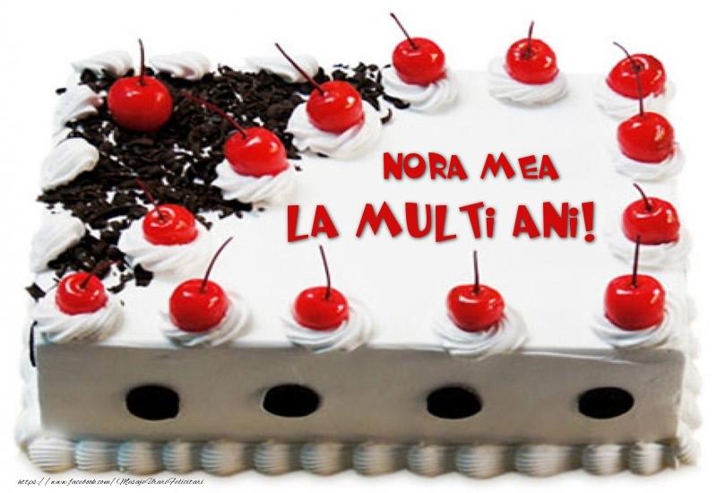 Felicitari frumoase de zi de nastere pentru Nora | Nora mea La multi ani! - Tort cu capsuni