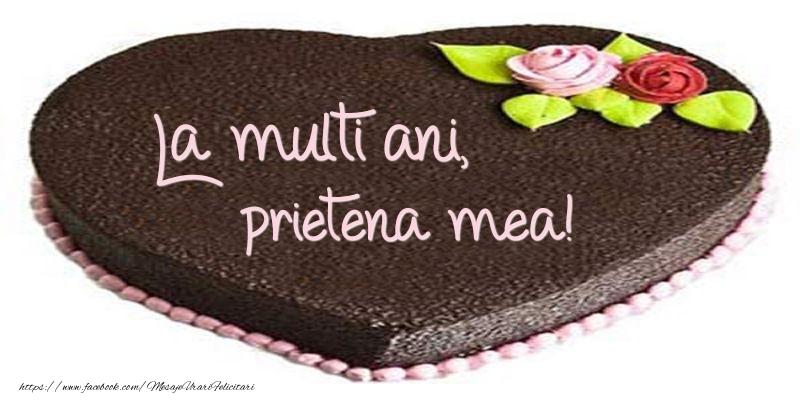 Felicitari frumoase de zi de nastere pentru Prietena | La multi ani, prietena mea! Tort in forma de inima