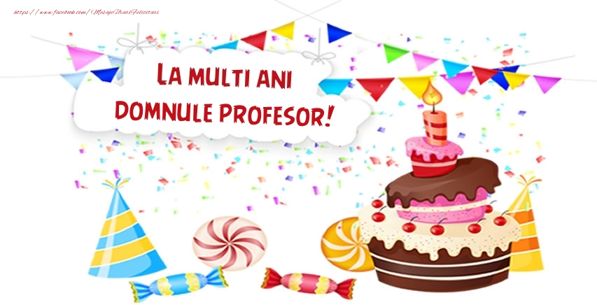 Felicitari frumoase de zi de nastere pentru Profesor | La multi ani domnule profesor!