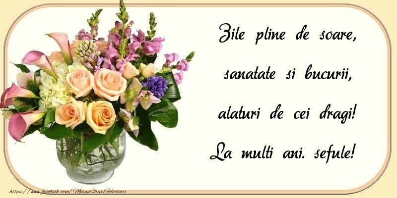 Felicitari frumoase de zi de nastere pentru Sef | Zile pline de soare, sanatate si bucurii, alaturi de cei dragi! sefule