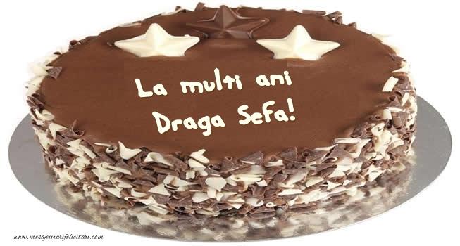 Felicitari frumoase de zi de nastere pentru Sefa | Tort La multi ani draga sefa!