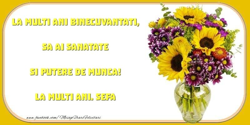 Felicitari frumoase de zi de nastere pentru Sefa | La multi ani binecuvantati, sa ai sanatate si putere de munca! sefa