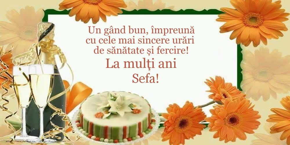 Felicitari frumoase de zi de nastere pentru Sefa | Un gând bun, împreună cu cele mai sincere urări de sănătate și fercire! La mulți ani sefa!