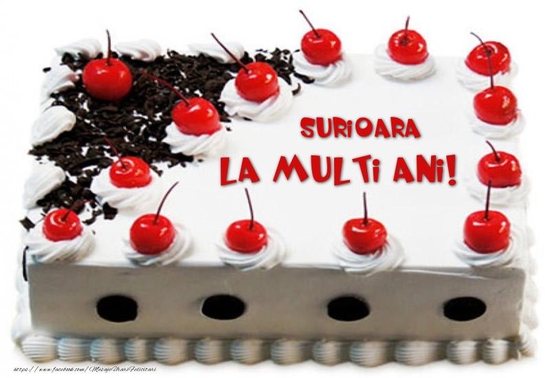 Felicitari frumoase de zi de nastere pentru Sora   Surioara La multi ani! - Tort cu capsuni