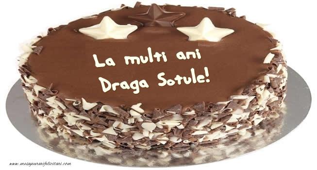 Felicitari frumoase de zi de nastere pentru Sot   Tort La multi ani draga sotule!