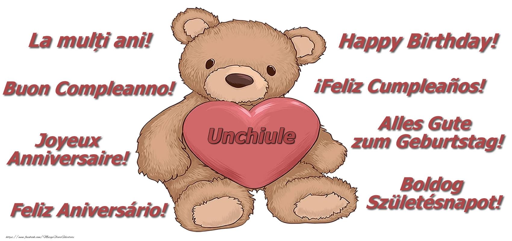 Felicitari frumoase de zi de nastere pentru Unchi   La multi ani unchiule! - Ursulet