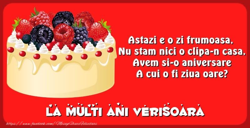 Felicitari frumoase de zi de nastere pentru Verisoara | La multi ani verisoara