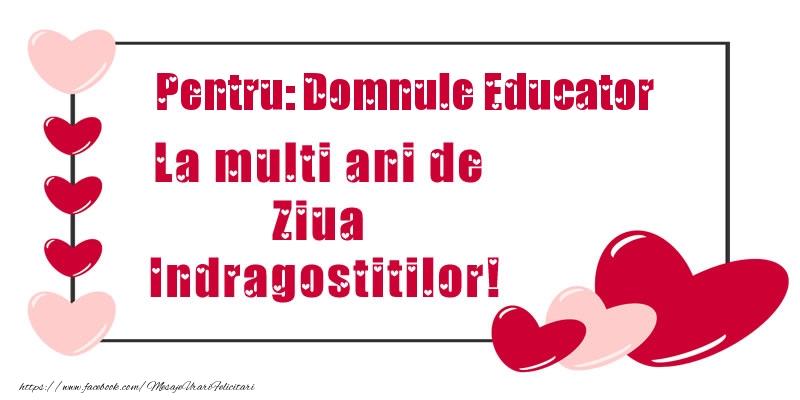 Felicitari frumoase de Ziua indragostitilor pentru Educator | Pentru: domnule educator La multi ani de Ziua Indragostitilor!