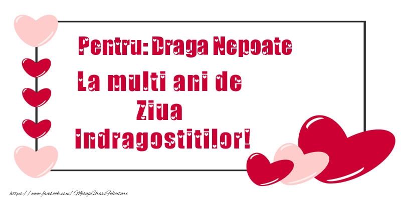 Felicitari frumoase de Ziua indragostitilor pentru Nepot | Pentru: draga nepoate La multi ani de Ziua Indragostitilor!