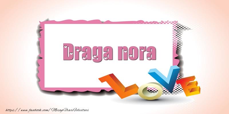 Felicitari frumoase de Ziua indragostitilor pentru Nora | Draga nora Love